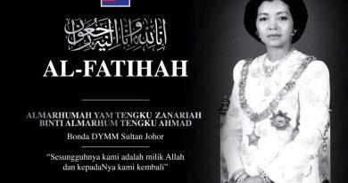 Johor Sultan's stepmother passes away
