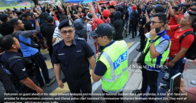 Police detain 41 football supporters after Malaysia v Indonesia match